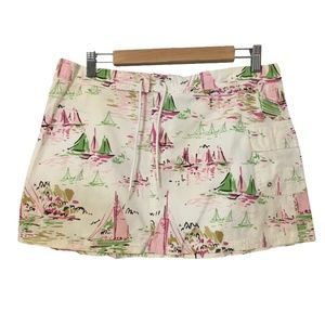 J CREW swim cover mini skirt Sailboat 10